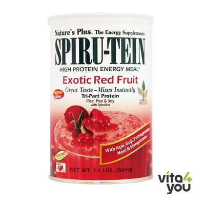 Nature's Plus Spiru-Tein Exotic Red Fruit 504gr