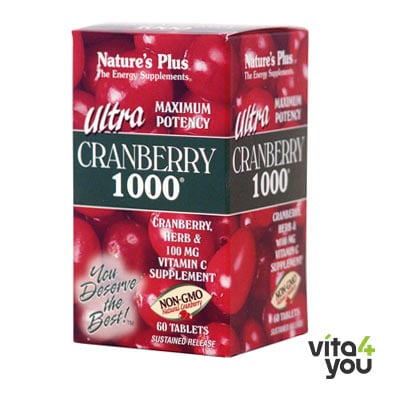 Nature's Plus Ultra Cranberry 1000 mg 60 tabs