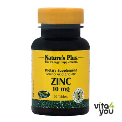 Nature's Plus Zinc 10 mg 90 tabs