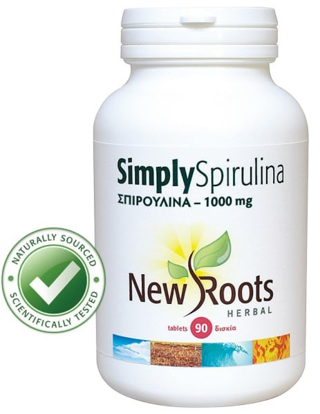 New Roots Simply Spirulina 1000 mg 90 caps
