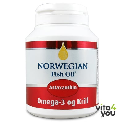 Norwegian Fish Oil Omega 3 Krill with astaxanthin 60 softgels
