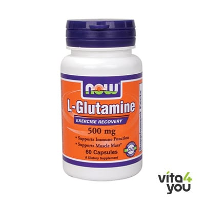 Now L-Glutamine 500 mg 60 caps