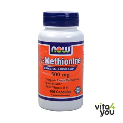 Now L-Methionine 500 mg 100 caps