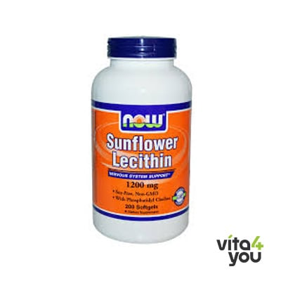 Now Lecithin Sunflower 1200 mg 100 softgels