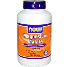 Now Magnesium Malate 1000 mg 180 tabs