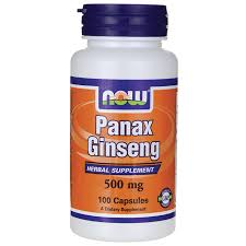 Now Panax Ginseng 500 mg 100 caps