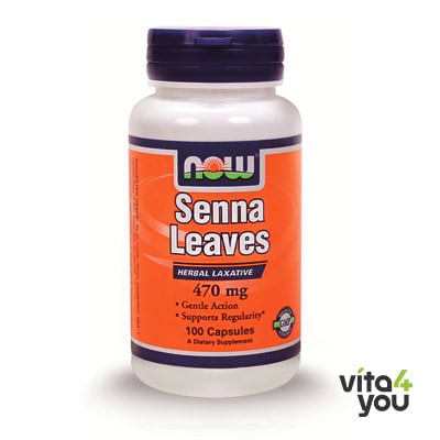Now Senna Leaves 470 mg 100 caps