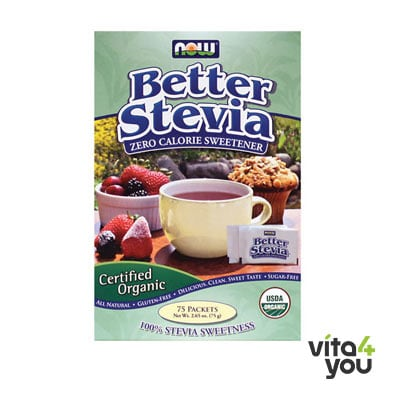 Now Better Stevia Organic 75 Packets