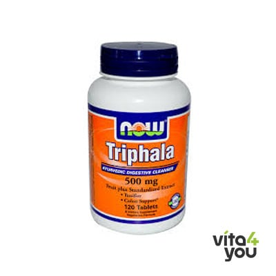 Now Triphala 500 mg Vegeterian 120 caps