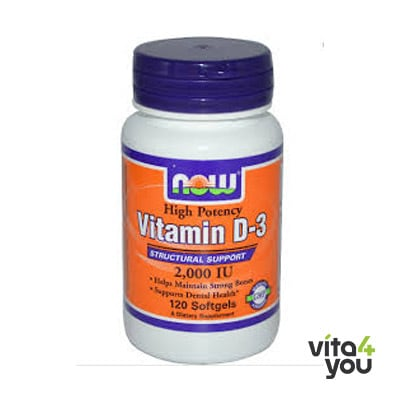 Now Vitamin D3 2000IU 120 softgels