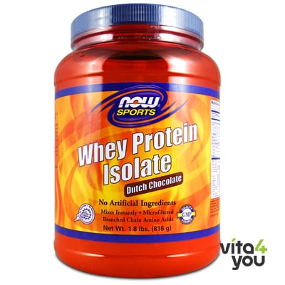 Now Whey Protein Isolate Dutch Chocolate 816 gr