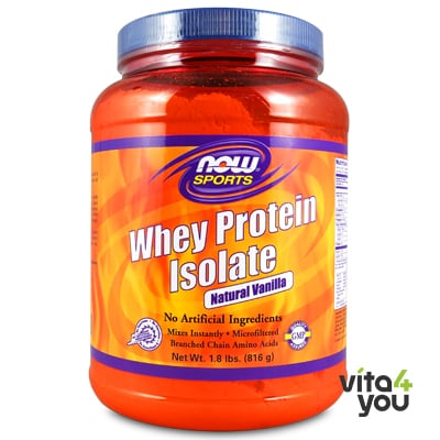 Now Whey Protein Isolate Natural Vanilla 816 gr