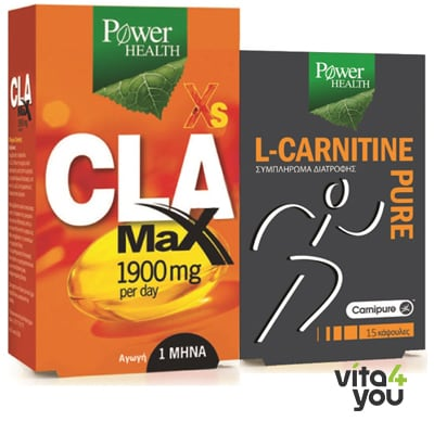 Power Health XS CLA Max 1900 mg 60 caps & L-Carnitine pure 15 caps