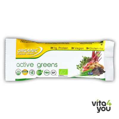 Raw Organic Food Bar Active Greens Bio 68 gr