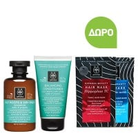 Apivita Oily Roots Dry Ends Balance Shampoo 250 ml & Balancing Conditioner 150 ml & Δώρο Hair Mask 20 ml