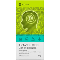 Agan Travel-Med Motion Sickness 10 chewing gums