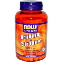 Now Sports Arginine 500 mg Citrulline 250 mg 120 caps