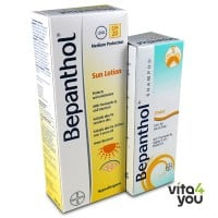 Bepanthol Sun Lotion SPF 20 200 ml + Δώρο Bepanthol Shampoo Greasy 200ml