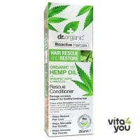 Dr. Organic Hair Rescue and Restore Organic Hemp Oil Rescue Conditioner 265 ml