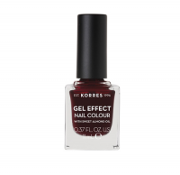 Korres Gel Effect Nail Colour 57 Burgundy Red 11 ml