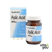 Health Aid Vegan Folic Acid 400 µg 90 tabs