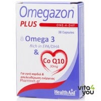 Health Aid Omegazon Plus Omega & CoQ10 30 caps