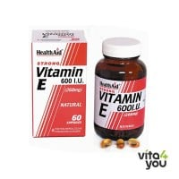 Health Aid Vitamin E 600 IU Natural 60 caps