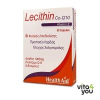 Health Aid Lecithin, Vitamin E & CoQ10 30 caps