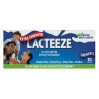 Lacteeze 10 chewable tabs