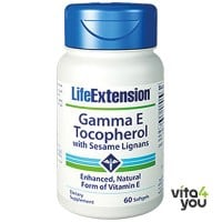 Life Extension Gamma E Tocopherol with sesame lignans 60 softgels