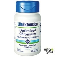 Life Extension Optimised Chromium with chrominex 500 mcg 60 veg caps