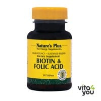Nature's Plus Biotin & Folic Acid 30 tabs
