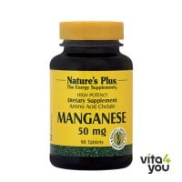 Nature's Plus Manganese 50 mg 90 tabs