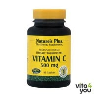 Nature's Plus Vitamin C 500 Sustained Release w/Rose Hips 90 tabs