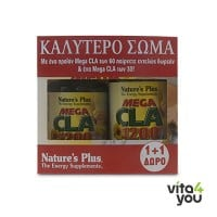 Nature's Plus Mega CLA 1200 mg 60 caps + Δώρο Mega CLA 30 caps
