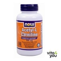 Now Acetyl-L Carnitine 500 mg 50 Vcaps