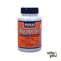 Now Borage Oil 1000 mg 240 mg GLA 60 softgels