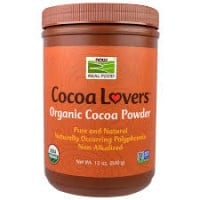 Now Cocoa Powder Certified organic 340 gr
