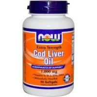Now Cod Liver Oil 1000 mg Extra Strength 90 sofgels
