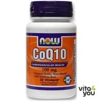 Now CoQ10 100 mg 30 Vcaps