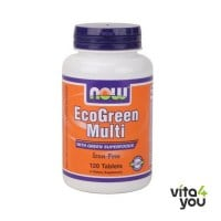 Now Eco-Green Iron-Free Multiple Vitamin 60 tabs