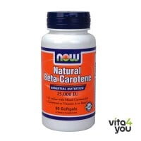 Now Natural Beta Carotene 25000IU 90 softgels