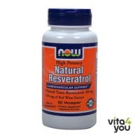 Now Natural Resveratrol 60 Vcaps