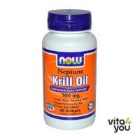 Now Neptune Krill Oil 500 mg 60 softgels