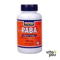 Now PABA 500 mg (Para-aminobenzoic Acid) 100 caps