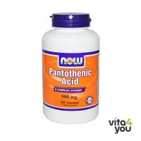 Now Pantothenic acid 500 mg 100 caps