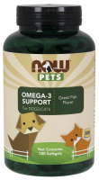 Now Pets Omega 3 Support 180 softgels