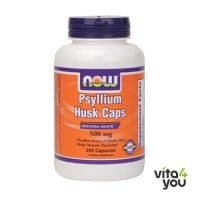 Now Psyllium Husk 500 mg 200 caps