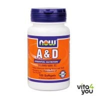 Now Vitamin A & D (10000IU A / 400IU D) 100 softgels