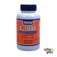 Now Vitamin C 1000 with Rose Hips & Bioflavonoids 100 tabs